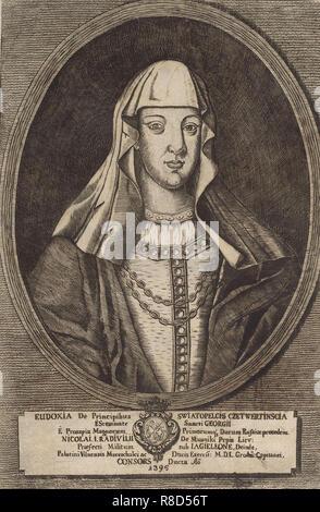 Eudoxia Radziwill. À partir de: Icones Familiae Ducalis Radivilianae, 1758. Collection privée. Photo Stock