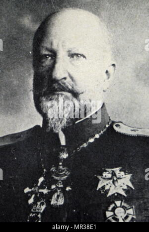 Portrait photographique de Ferdinand I de Bulgarie (1861-1948) le prince de Bulgarie de 1887 à 1918. Il est aussi l'auteur, botaniste, entomologiste et philatelist. En date du 20e siècle Photo Stock
