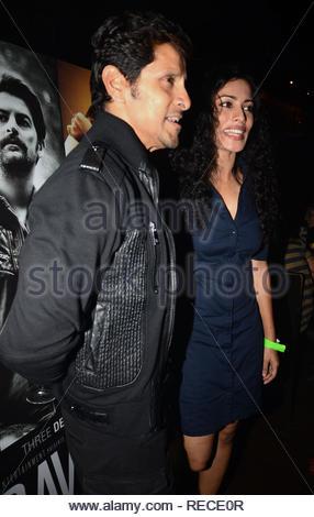 Acteur Tollywood Vikram et Sheetal Menon au cours de la musique Lancement du film à venir David à Mumbai, Inde, le 14 janvier 2013. (Dr Naik/ IMAGES SOLARIS) Photo Stock