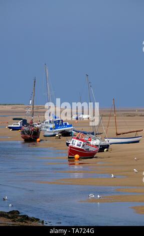 Bateaux au wells-next-the-Sea, North Norfolk, Angleterre Photo Stock