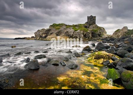 Ruines de Kinbane, Irlande du Nord. Photo Stock
