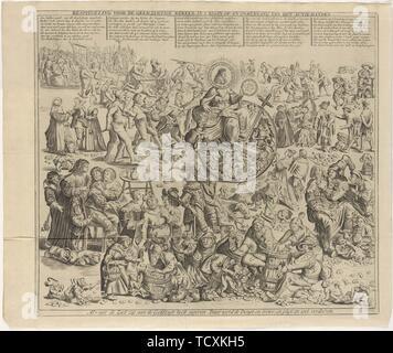 Les régimes d'investissement: Contemplation pour le monde gourmand sur l'ascension et la chute du stock-jobbery, 1720. Collection privée. Photo Stock