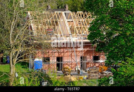 Construire de nouvelles maisons en construction, Norwich, Norfolk, Angleterre Photo Stock