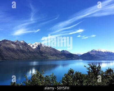 Paysage de montagne et lac dans la région de Queenstown, nouvelle, Zeakand Photo Stock