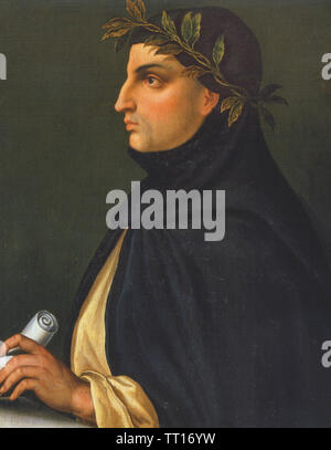 GIOVANNI BOCCACCIO (1313-1375) poète et humaniste Italien Photo Stock