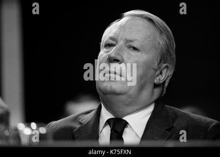 Portrait Ted Heath, M. Edward Heath MP Premier ministre Conservateur 1973 Blackpool Conférence Jardins d'hiver 1970 UK Angleterre HOMER SYKES Photo Stock