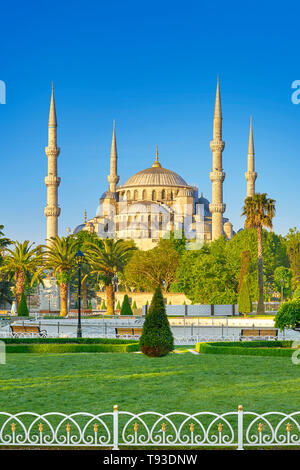 La Mosquée Bleue, la Mosquée Sultan Ahmed, UNESCO World Heritage Site, Istanbul, Turquie Photo Stock