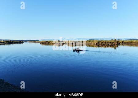 L'île de Vancouver en kayak Photo Stock
