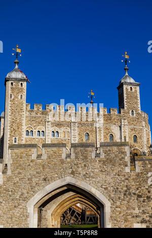 L'Angleterre, Londres, Tour de Londres, à la Tour Blanche Photo Stock