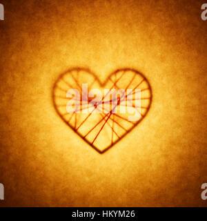 Silhouette en forme de coeur Photo Stock