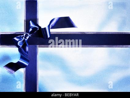 Bow Ribbon et illustrant les cadeaux, fêtes, surprises, amour, affection et gratitude. Photo Stock