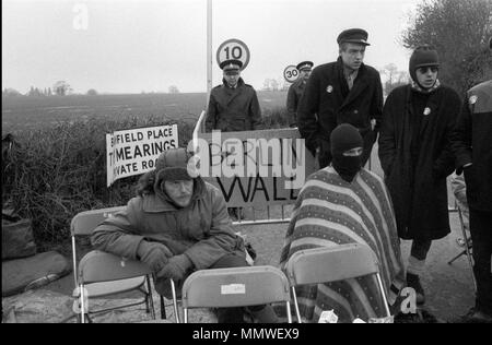 Greenham Common Womens camp de Paix, 1985, personnes qui protestaient. 1980 UK HOMER SYKES Photo Stock