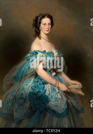 Portrait de la grande-duchesse Alexandra Iosifovna 1830-1911 (août 1659), 1859. On trouve dans la Collection de la Royal Collection, Londres. Photo Stock