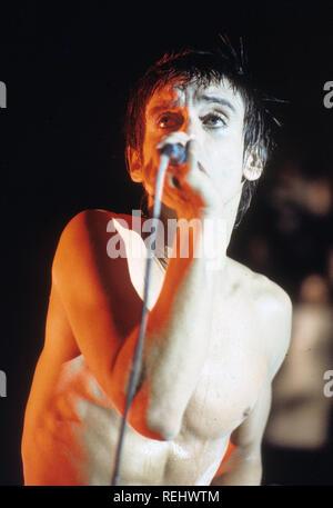 IGGY POP musicien rock américain sur 1986 Photo Stock