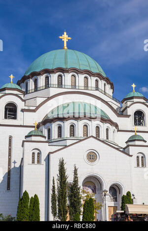 Serbie, Belgrade, Saint Sava Temple - La plus grande cathédrale orthodoxe dans le monde Photo Stock