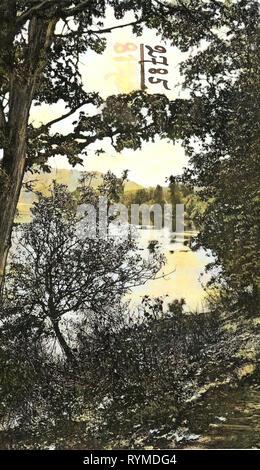 Les rivières de l'Oregon, Roseburg, Oregon, 1906, en Orégon, une rivière Vista', États-Unis d'Amérique Photo Stock