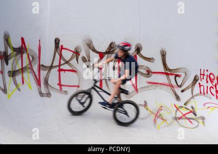 Les cyclistes,skate,bmx,culture jeunesse Photo Stock