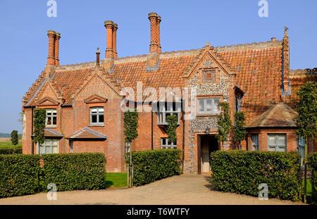 Maison ancienne, holkham, North Norfolk, Angleterre Photo Stock