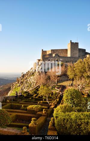 Le château médiéval de Marvao. Alentejo, Portugal Photo Stock