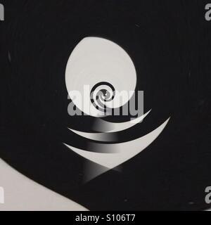 Image abstraite de formes en noir et blanc Photo Stock