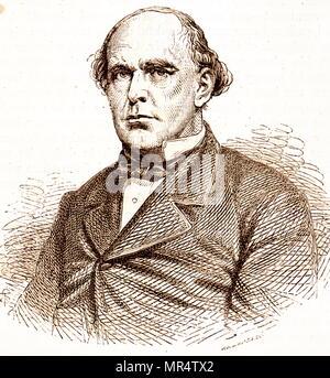 Portrait de Salmon P. Chase (1808-1873) un homme politique américain, juriste et ancien juge en chef de la United States. En date du 19e siècle Photo Stock