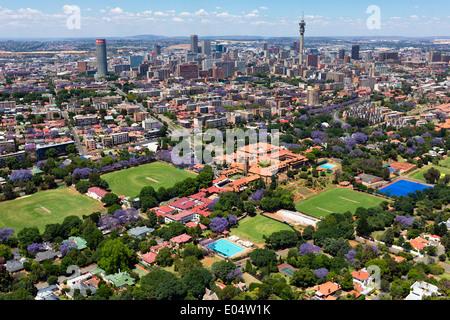 Vue aérienne de St John's College, Houghton.Johannesburg Afrique du Sud. Photo Stock