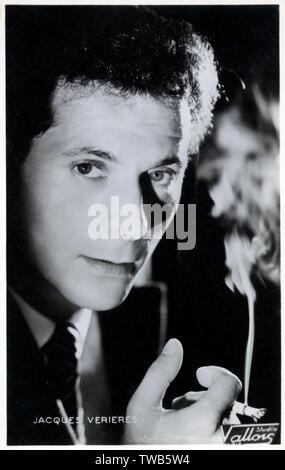 Verieres Jacques (1924-2009) - acteur de cinéma Théâtre et cinéma Auteur Auteur-compositeur-interprète et guitariste. Date: vers 1959 Photo Stock