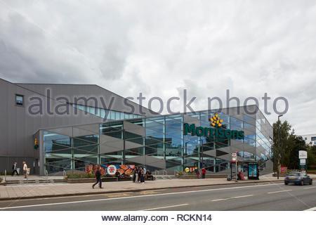 Morrisons, Colindale. Morrisons, Colindale, Londres, Royaume-Uni. Architecte: n/a, 2017. Photo Stock