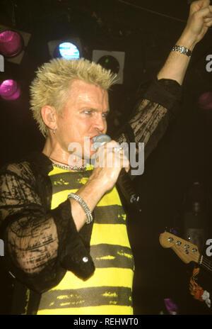 BILLY IDOL en 1981, musicien de rock anglais Photo Stock