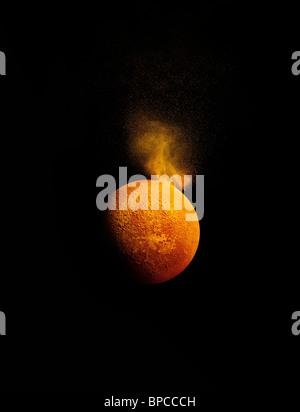 Une simulation d'une éruption solaire Photo Stock
