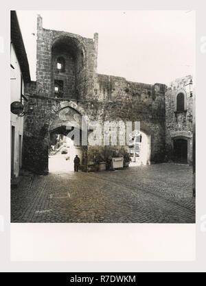 Lazio, Viterbe, Tuscania, vues générales Photo Stock