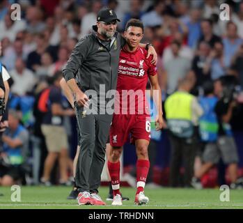 JURGEN KLOPP, ALEXANDER TRENT-ARNOLD, Tottenham Hotspur FC V LIVERPOOL FC finale de Champions League 2019, 2019 Photo Stock