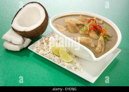 Repas au curry vert thaïlandais Photo Stock