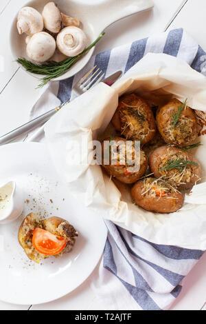 Pommes de terre au four Photo Stock