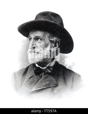 GIUSEPPE VERDI (1813-1901), compositeur d'opéra italien Photo Stock