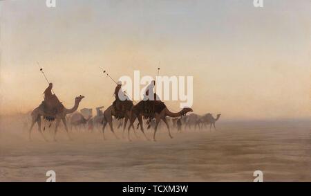 Grande caravane de La Mecque. Collection privée. Photo Stock