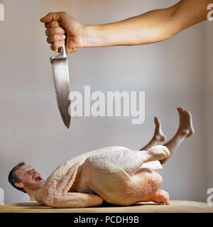 La volaille,poulet,tuant,poulet,meurtre Photo Stock