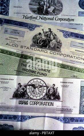 Certificats d'actions USA © Myrleen ....Pearson Ferguson Cate Photo Stock
