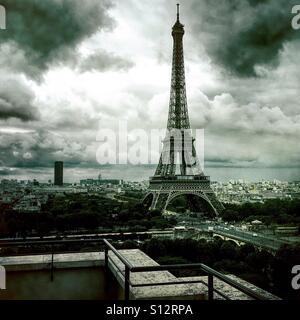 La Tour Eiffel, Paris, Juillet 2016 Photo Stock
