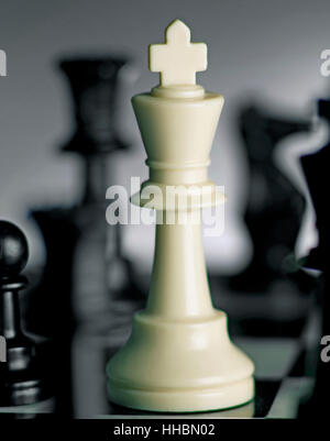 Roi d'échecs à bord hero Photo Stock