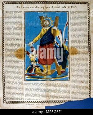 19ème siècle illustration française Saint André l'apôtre Photo Stock