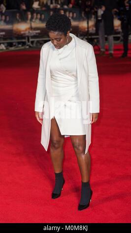 Londres, Royaume-Uni. 22 janvier, 2018. Clara Amfo assiste à la 'Maze Runner: la peine de guérir' Photo Stock
