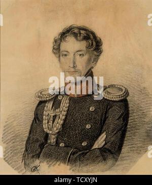 Portrait d'Alexander Ivanovitch Dmitriev-Mamonov (1787-1836), début des années 1820. On trouve dans la collection de musée d'état de A.S. Pouchkine, Moscou. Photo Stock