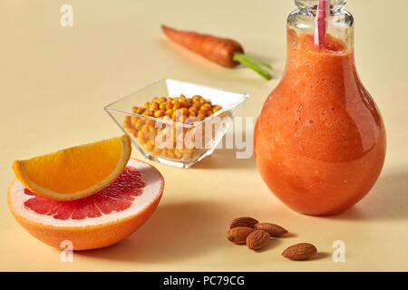 Régime alimentaire sain,smoothie,jus Photo Stock