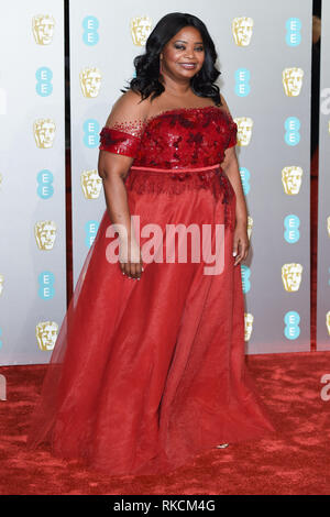 Londres, Royaume-Uni. 10 fév, 2019. Londres, Royaume-Uni. 10 février 2019 : Octavia Spencer arrivant pour le BAFTA Film Awards 2019 au Royal Albert Hall, Londres. Photo : Steve Sav/Featureflash Crédit : Paul Smith/Alamy Live News Photo Stock