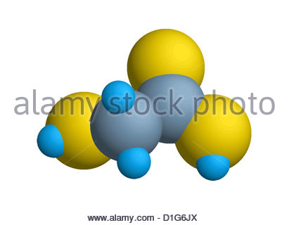 L'acide glycolique (Acide hydroxyacétique) modèle moléculaire : Carbone : gris ; Photo Stock