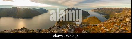Vue panoramique sur les îles Lofoten Photo Stock