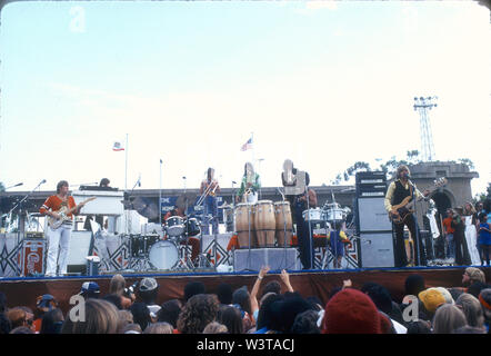 CHI9CAGO groupe rock américain à Balboa Park, San Diego, vers 1974 . Photo: Jeffrey Mayer Photo Stock