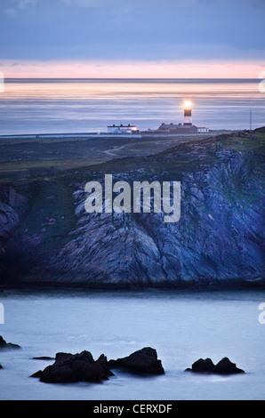 Le phare de l'île de Tory, Donegal, Irlande. Photo Stock