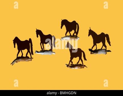 Certains chevaux de frais généraux Photo Stock